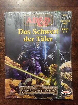 Tsr Ad&d Advanced Dungeons & Dragons Vr1 Das Schwert Der Täler Neu Ovp Folie