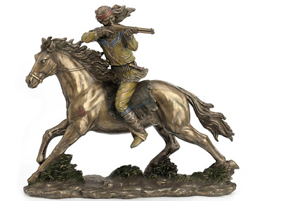 Apache Indian Shooting Rifle Statue Sculpture Figure