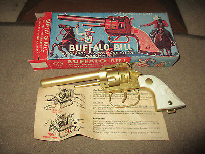 Antik Spielzeugpistole Kinder Revolver Buffalo Bill 50er Jahre Made West Germany