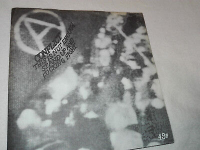 "CONFLICT-This Is Not Enough 7"" CRASS, SUBHUMANS, ICONS OF FILTH,  DISCHARGE, GBH"