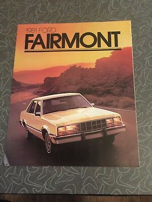 1981 Ford Fairmont Car Auto Dealership Advertising Brochure