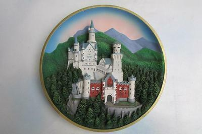 1995 Lenox 3-D Neuschwanstein Castle From The Enchanted Towers Plate Collection