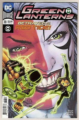 Dc Universe Green Lanterns #38 Nm+ Cover A Rebirth Sold Out & Htf 2018 Red Tide