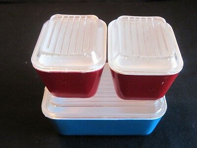3 Banner Plastics Child's Pyrex Refrigerator Dishes