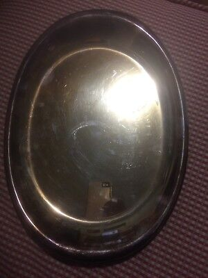 "Wilcox IS International Silver Co, 5509/14 Oval Serving Platter, 14"" x 10 1/4"""