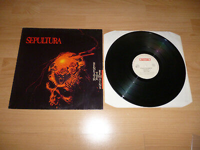 SEPULTURA - BENEATH THE REMAINS Vinyl LP RO9511-1 RARE 1989 Trash Metal