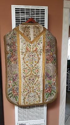 Antique Hand Embroidery Chasuble (18th Century)