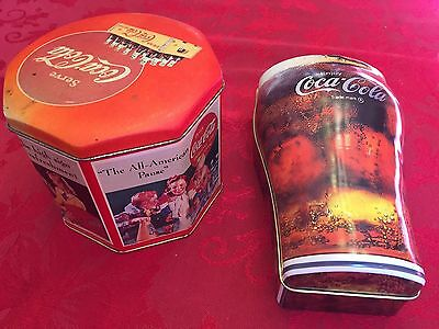 Lot of 2 Coca Cola tins FREE SHIPPING
