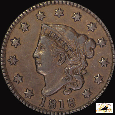 1818 Large Cent Pcgs Xf 40