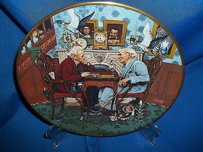 April Fool by Norman Rockwell Collector Plate The Ghent Collection Gorham China