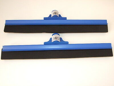 2 x Replacement Professional Hard Floor Cleaning Squeegee Heads Blue