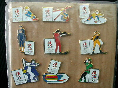 * 9 Pin's Pin Jeux Olympiques Hiver Albertville 92  Email