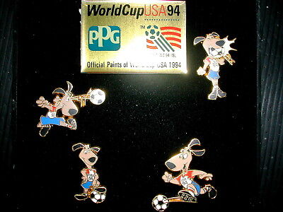 * Coffret De 4 Pin's Pin World Cup Usa 94 Football