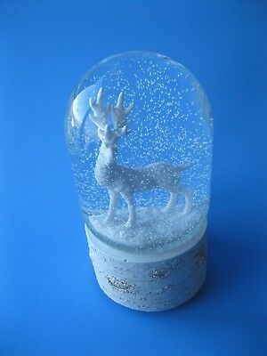 Snow Globe Deer Christmas Music Box White Deer In Forest San Francisco Music Box