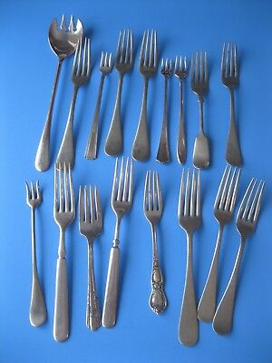Vintage Silverplate Silver Plate FORK LOT Mixed Lot Flatware Silverware Forks