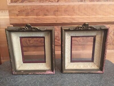 Pair of Small Antique Ornate Wood Picture Frame
