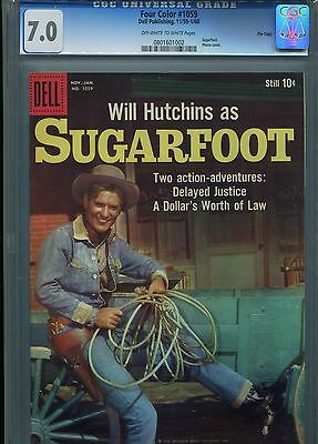 Four Color #1059 (Dell) Sugarfoot 11/59-1/60 File Copy Graded Cgc 7.0 (Western)