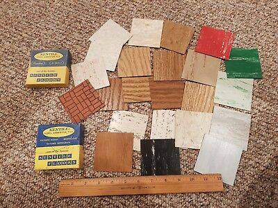 Lot of Vintage Sample Boxes of Kentile Asbestos Floor Tile - MCM