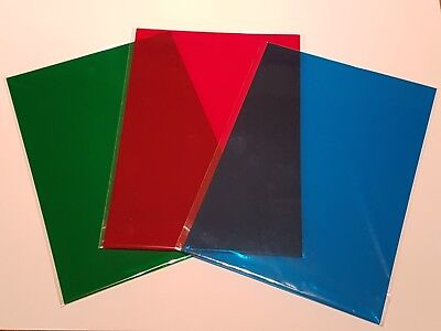 Colour A4 Acetate Film Craft Filter Sheets 180 Micron Choose Colour And Quantity
