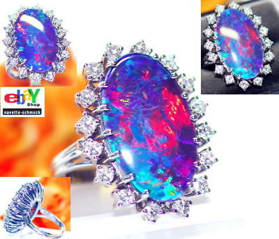 wertvoller exclusiver 1,28ct Brillant Opal 585er Goldring Wert 4990 € Euro RAR