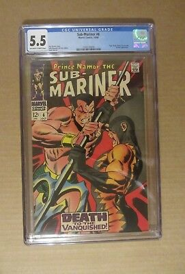 Sub-Mariner #6 (1968, Marvel) CGC 5.5...Tiger Shark, Dr. Dorcas & Destiny app.