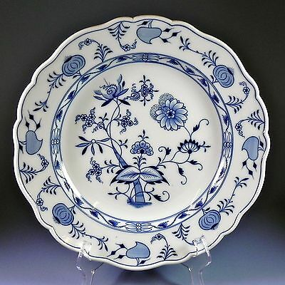 "Meissen Blue Onion 13"" Chop Plate Round Platter  1 of 2   #27, #46"