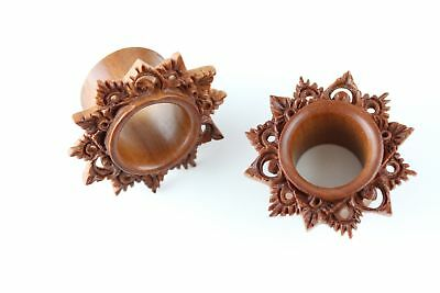 Carved Wooden Goddess Tunnels - (Pair) - PA73