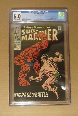 Sub-Mariner #8 (1968, Marvel) CGC 6.0..Sub-Mariner vs.Thing. 1st S.A. Betty Dean