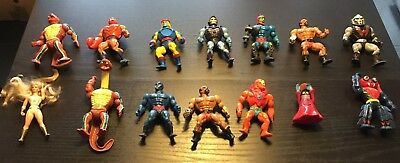14 Masters of the Universe He-Man Action Figures original 1980s series