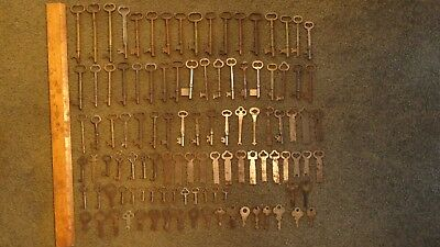 Lot of 108 Vintage Skeleton Furniture Cabinet Flat Keys STEAMPUNK!
