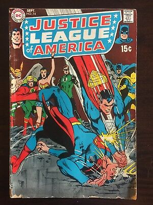 Justice League of America 74  VG- 1969 No Reserve