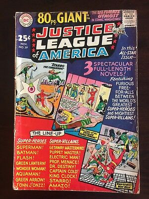 Justice League of America 34 Fair/Good 1965 Giant No Reserve