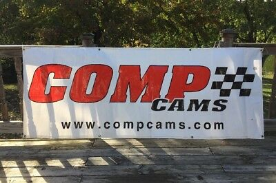 """COMP CAMS Competition Cams Specialty Auto Parts Ad Garage Shop Banner Sign 94"""""""