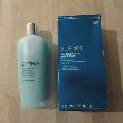 ELEMIS - ACHING MUSCLE SUPER SOAK - Warms Recharges Energises - 400ML.