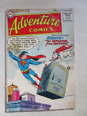 Adventure Comic # 210 - First App Krypto The Superdog