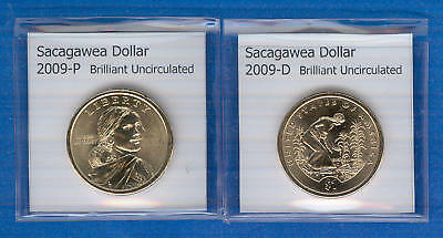 Sacagawea Dollars: 2009-P and 2009-D from Mint Rolls
