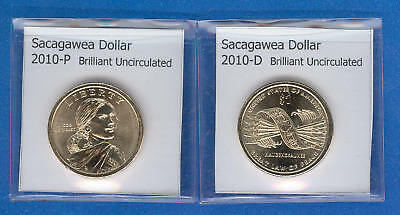 Sacagawea Dollars: 2010-P and 2010-D from Mint Rolls