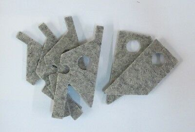 New Felt Way Wiper Set For Bridgeport Series I Mills (Step Pulley Or Vs)