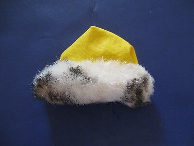 Vintage Barbie Great Coat Faux Leather And Fur Yellow Hat
