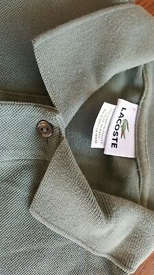 Lacoste Womens Polo Shirt Green Size 2 -Free shipping!
