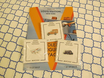 Louis Vuitton Pin Set Volez Voguez Voyagez Graffiti Airplane Truck Sprouse