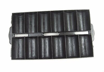 Antique Cast Iron New England Style Gem Pan No 11, 12 Cup Roll Muffin Pan c1890s