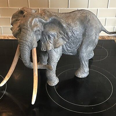 Rowland Ward SUPER RARE Large African Elephant Statue Numbered