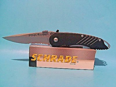 Schrade pocket knife MAGIC Extreme Survival Assisted Opening Serrated blade