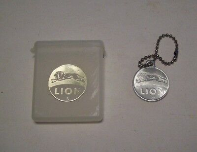 Vintage Lion Oil Company Match Holder And Key Chain