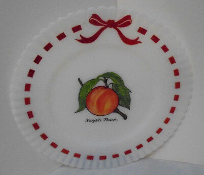 "Petalware By Macbeth-Evans, Painted Plate With Knight's Peach, 8"" Across Vintage"