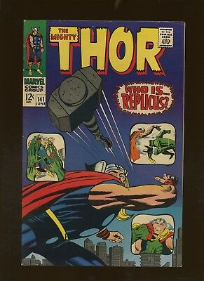 Thor 141 VF 7.5 * 1 Book Lot * Wrath of Replicus by Stan Lee & Jack Kirby!