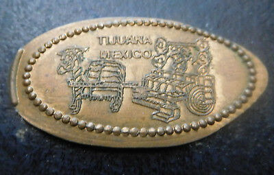 Tijuana,Mexico - Mexicoach Bus Depot Retired Copper Elongated Penny