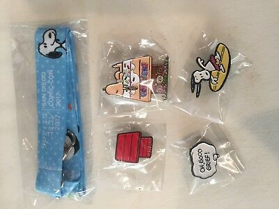 SDCC 2017 Exclusive Peanuts Tokidoki lanyard pin set lot