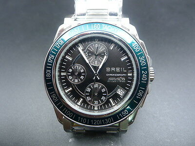 New Old Stock BREIL TW0729 Chronograph Date Stainless Steel Quartz Men Watch